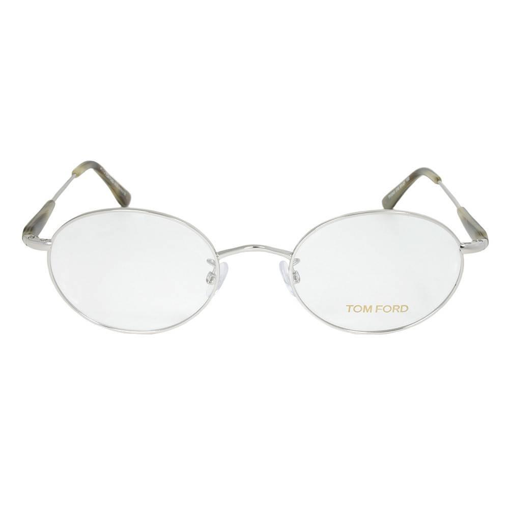 Shiny Palladium Oval Eyeglasses Frame | Size 51