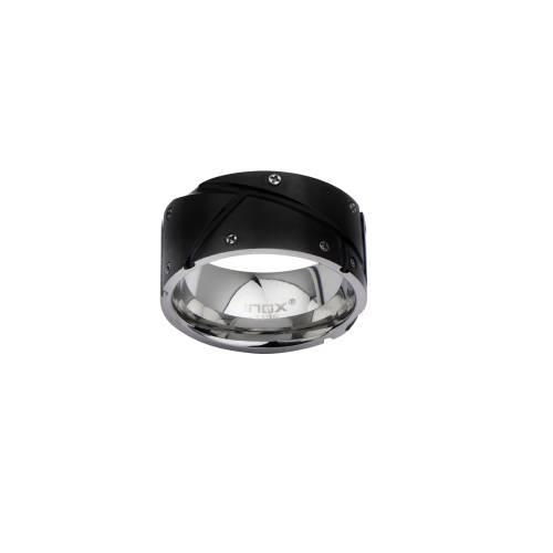 Men's Black IP with Screw Head Ring. | Inox Jewelry