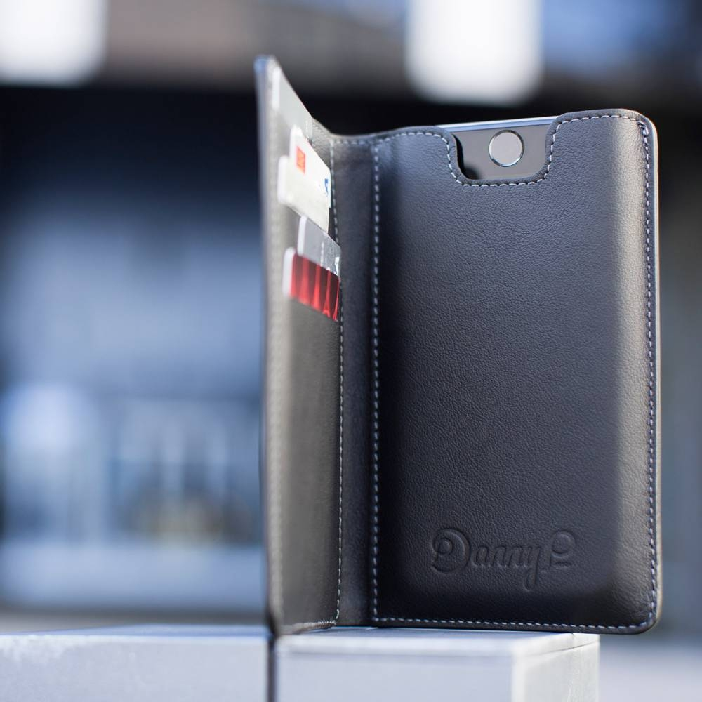 Black Leather iPhone 6 Wallet Case | Danny P