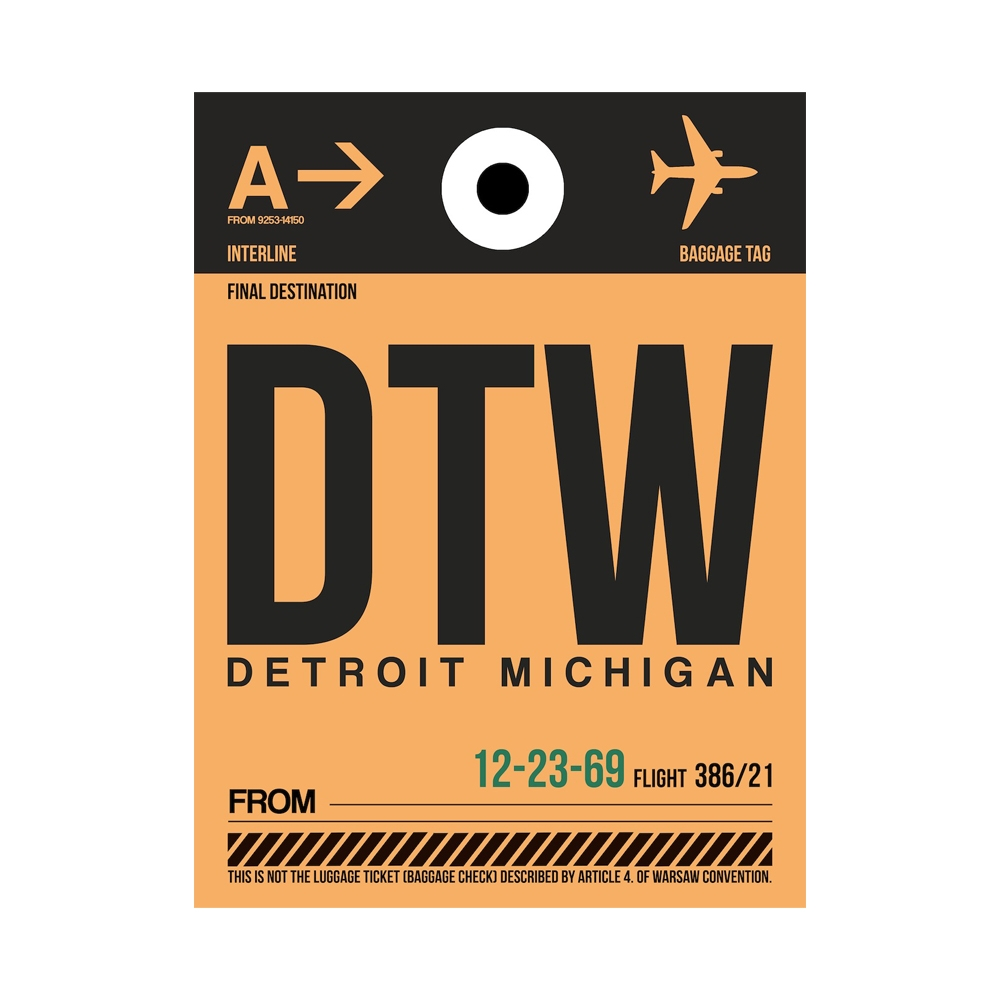 NaxArt | DTW Detroit Poster