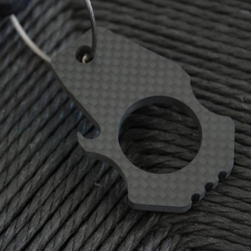 Carbon Fiber Bottle Opener Keychain | Bastion