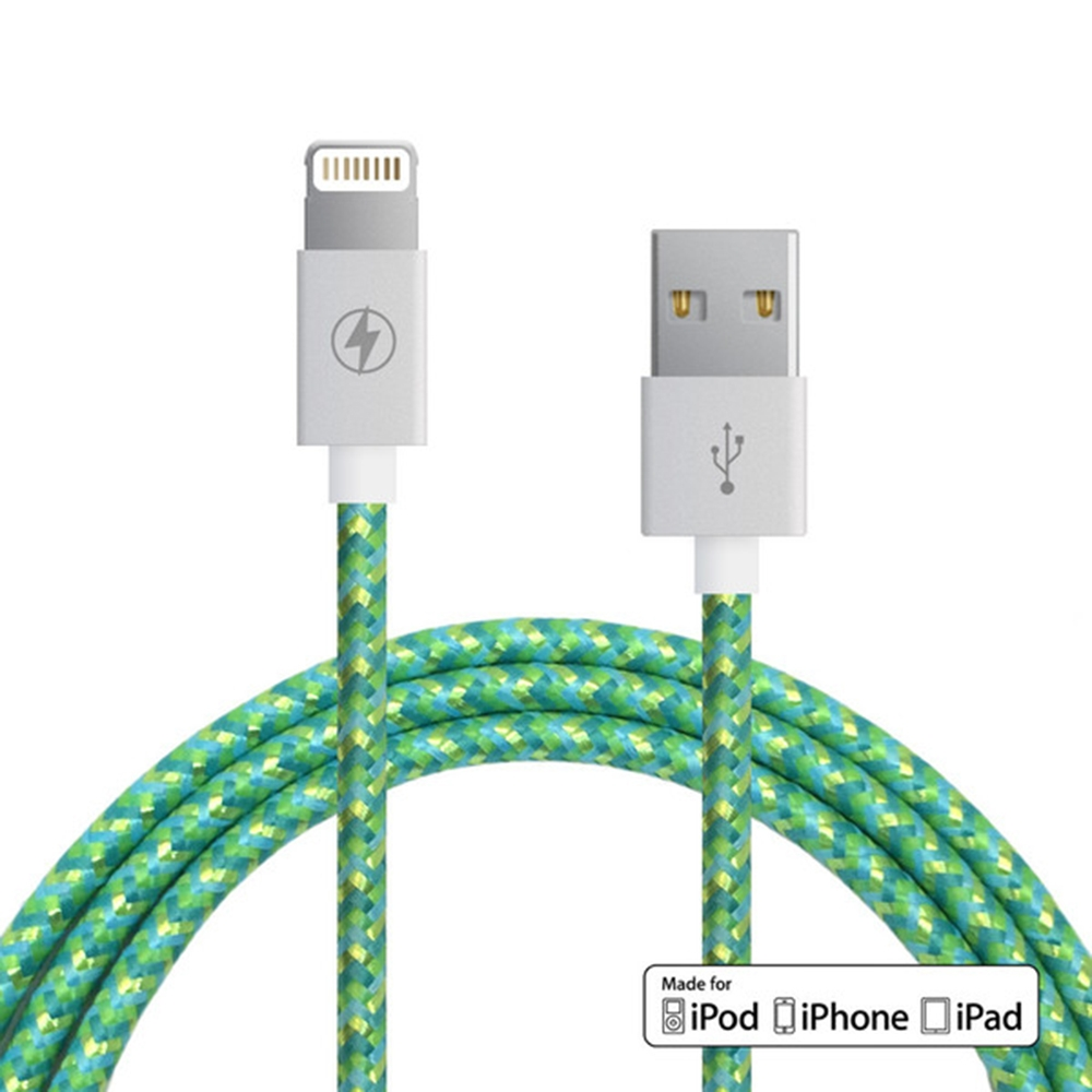 Citrus Mint Lightning Cable    Charge Cords