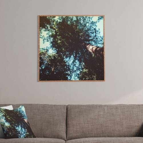 Leah Flores Treetops Framed Wall Art | Deny Designs