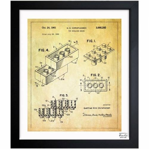 Lego toy building brick 1961 oliver gal blueprints malvernweather Gallery