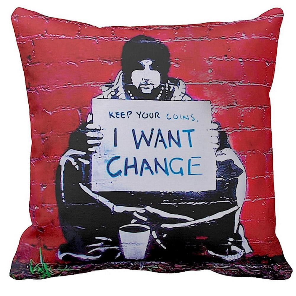Keep Your Coins I Want Change   Banksy Art   iLeesh
