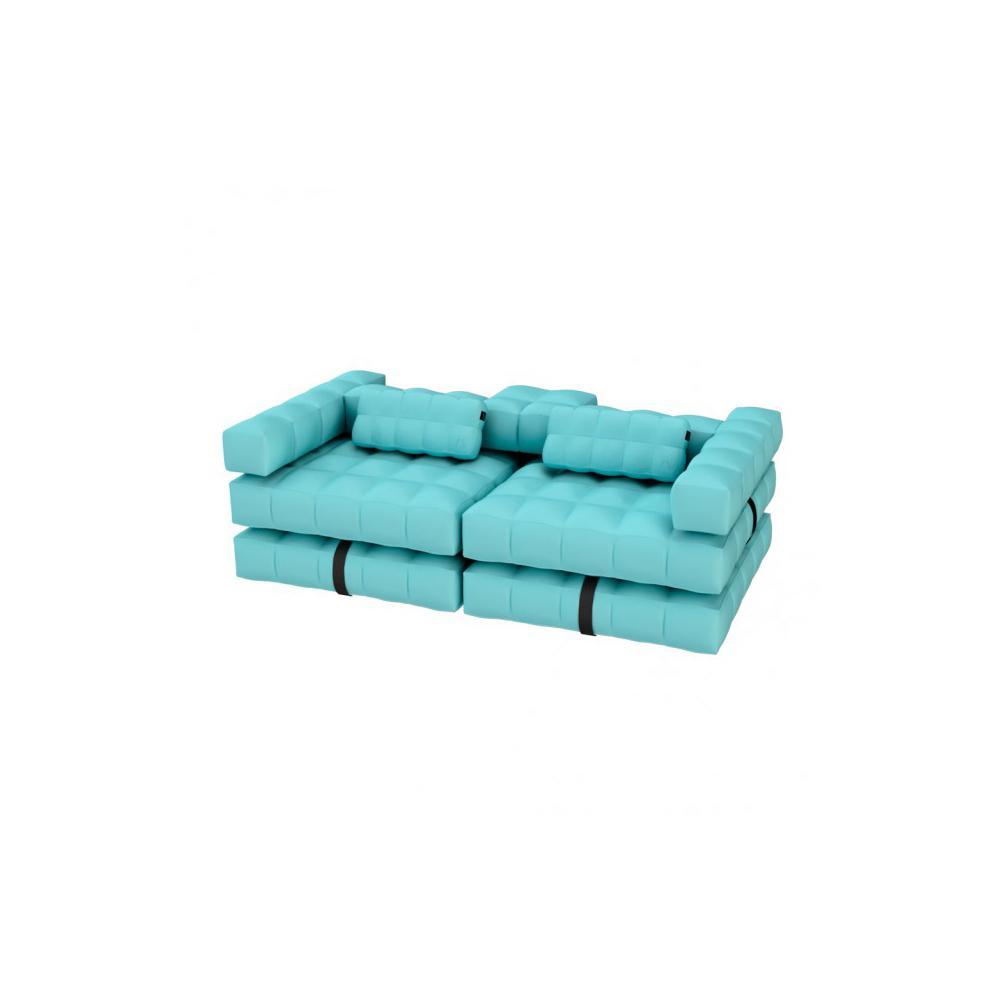 Sofa / Double Lounger Set | Aquamarine Green | Pigro Felice