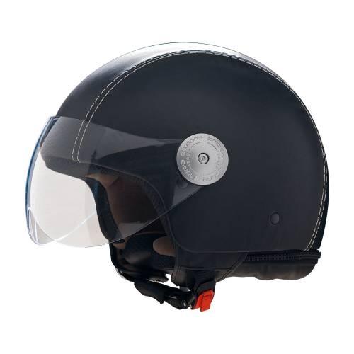 Leather Helmet   Vintage Black