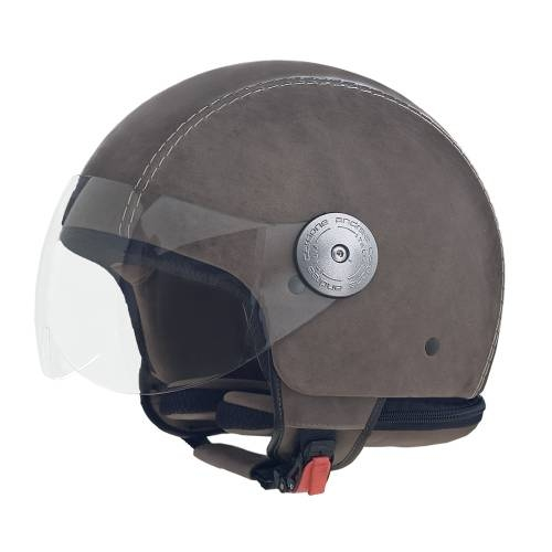 Leather Helmet   Vintage Grey