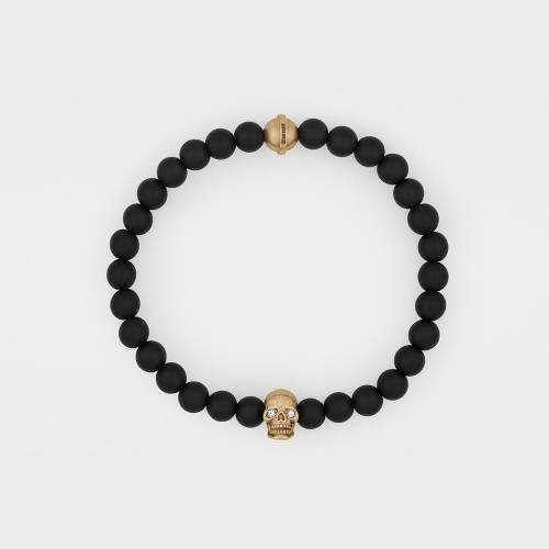 Onyx Bracelet | 18ct Rose Gold | Diamonds