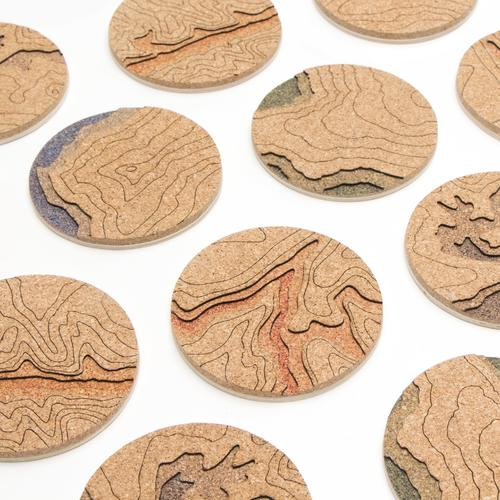 Topo Coasters   Set of 4   Red River Gorge   Tom Will Make