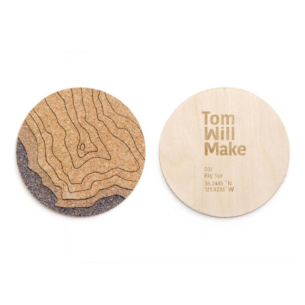 Topo Coasters | Set of 4 | Big Sur | Tom Will Make