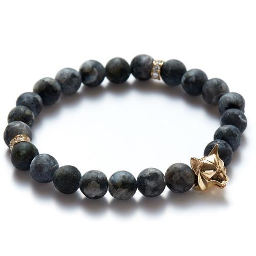 Labradorite | Gold Wolf Bracelet