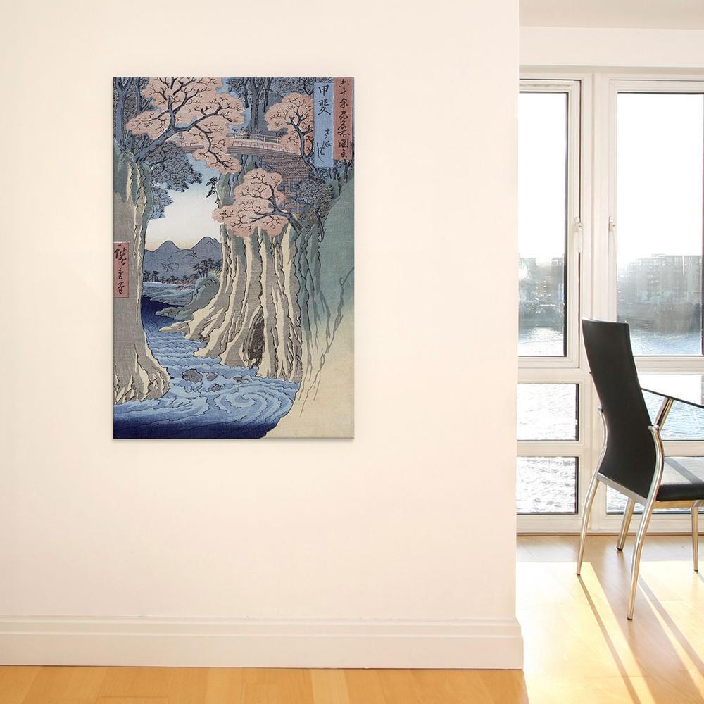Kai, Saruhashi (Kai Province: Monkey Bridge)   Canvas Print