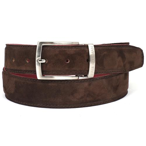 Men's Brown Suede Belt | ​Brown