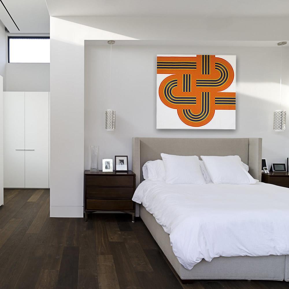 Weave Orange   MidcenturyArt
