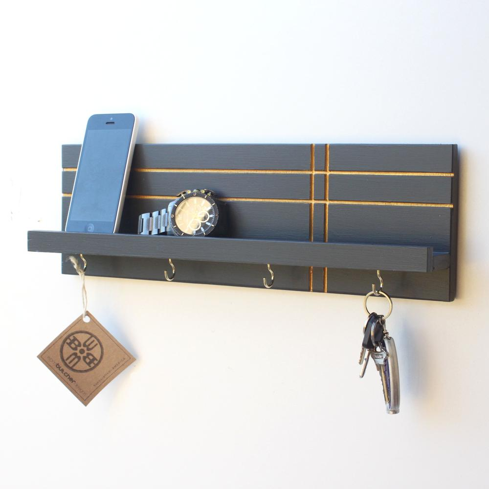 key holder jewelry organizer geo wood butcher designs