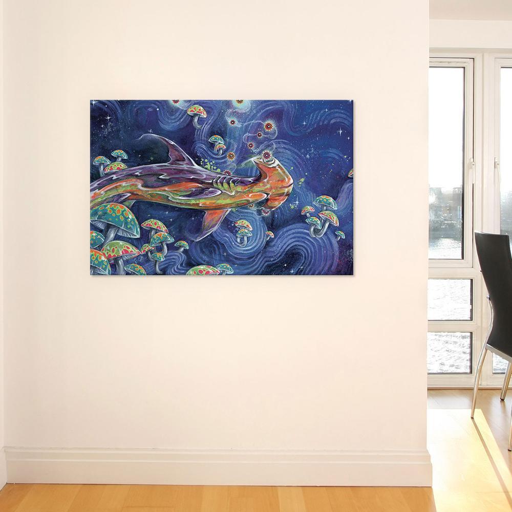 Shark Tea by Black Ink Art Canvas Print