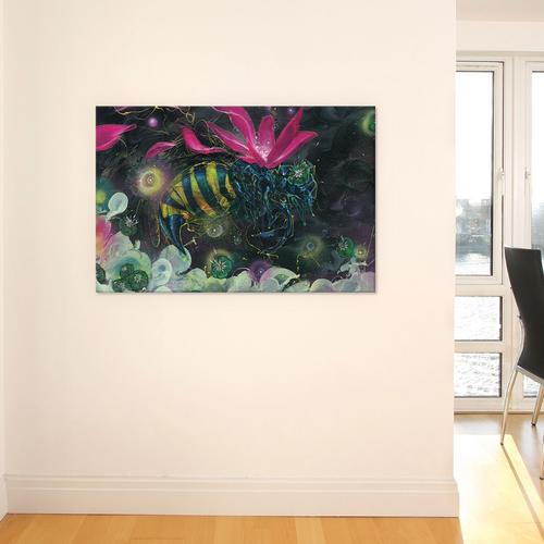 Discovery by Black Ink Art Canvas Print