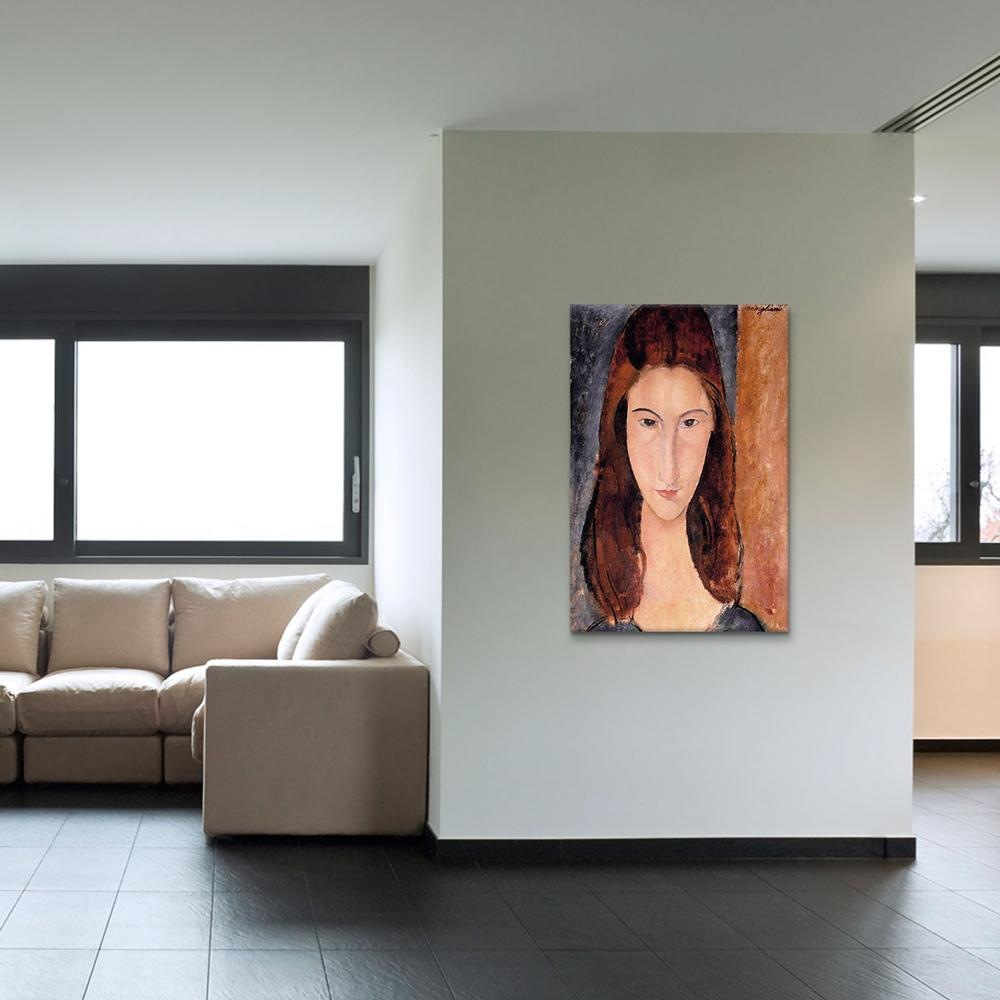 Portrait of Jeanne Hebuterne by Amedeo Modigliani Canvas