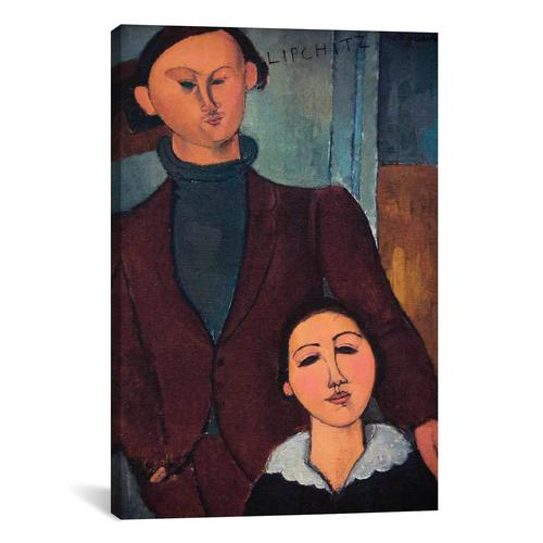Portrait of Jaques and Bethe Lipchitz by Amedeo Modigliani