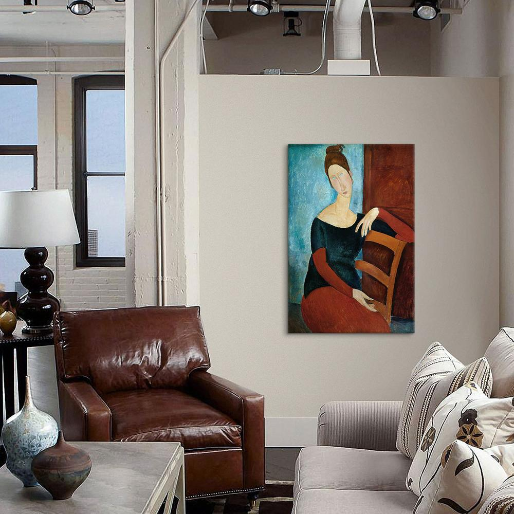 The Artist's Wife by Amedeo Modigliani Canvas Print