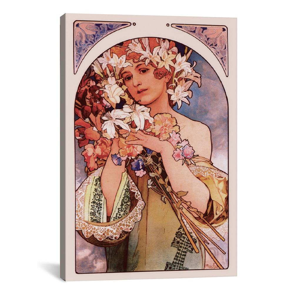 Flower by Alphonse Mucha Canvas Print