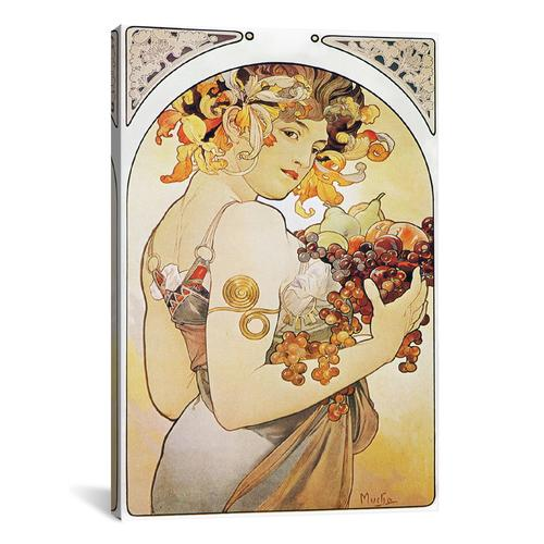 Fruit, 1897 by Alphonse Mucha Canvas Print
