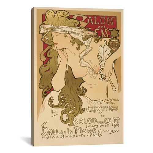 Salon Des Cent: 20th Exposition Vintage Poster
