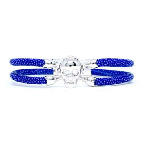 Bracelet | Single Skull | Blue/Silver