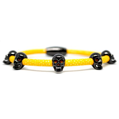 Bracelet | Multi Skull | Yellow/Black