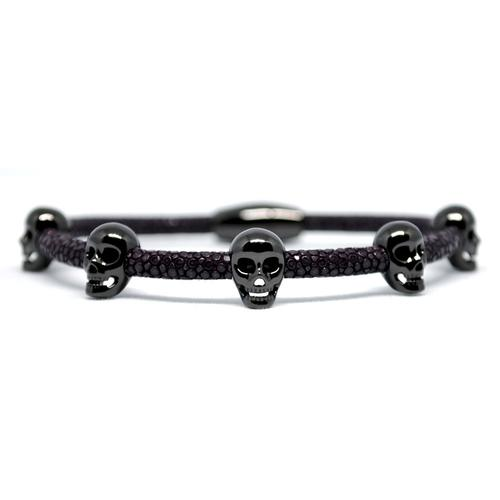 Bracelet | Multi Skull | Purple/Black