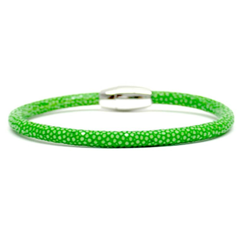 Single Stingray Bracelet   Green   Double Bone