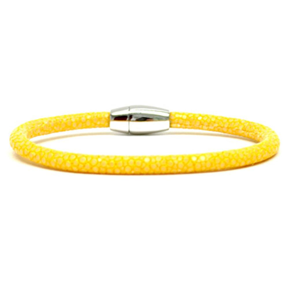 Single Stingray Bracelet   Yellow   Double Bone