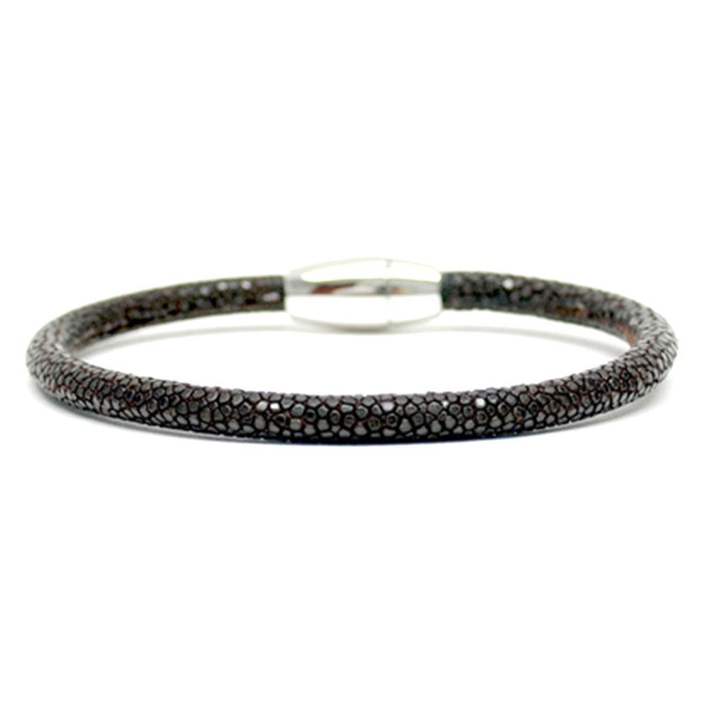 Single Stingray Bracelet | Brown | Double Bone