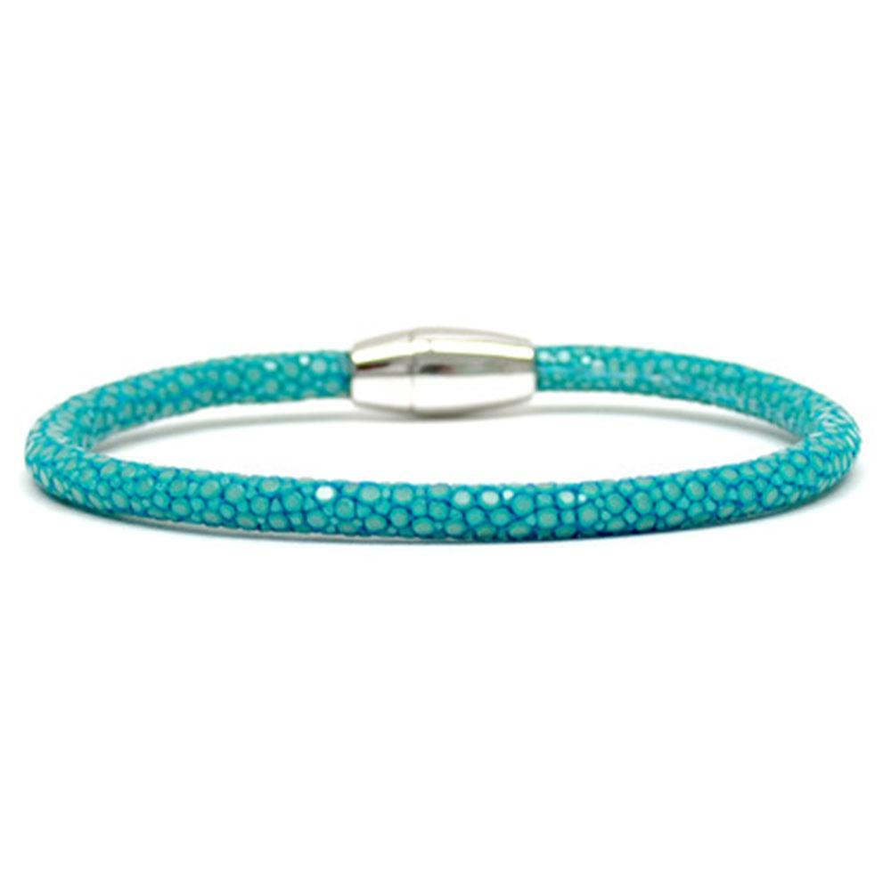 Single Stingray Bracelet   Turquoise   Double Bone