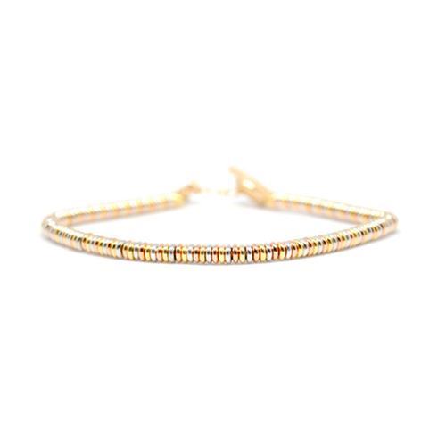 Bracelet | Single Beads | Triple Gold