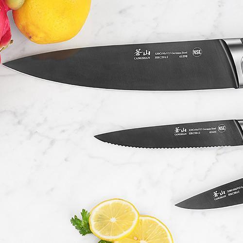 K Series | Set of 3 Knives | Titanium Coating | Cangshan