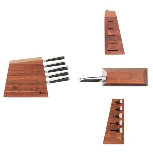 X Series   6-Piece Knife Set   Acacia Wood Block   Cangshan