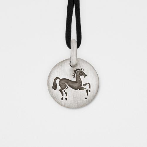Horse Charm Pendant   Sterling Silver