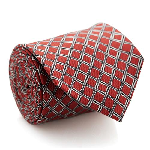 Necktie | Red with Overlay Pattern