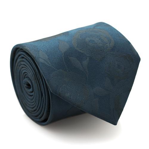 Necktie | Dark Teal with Flower Pattern