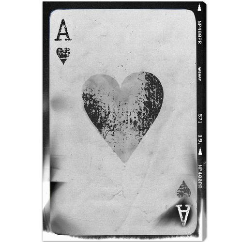 'Ace of Hearts Reversed' Canvas Art