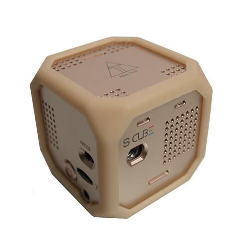 Alien Tech S Cube | Gold | Alien Tech Mini Projector
