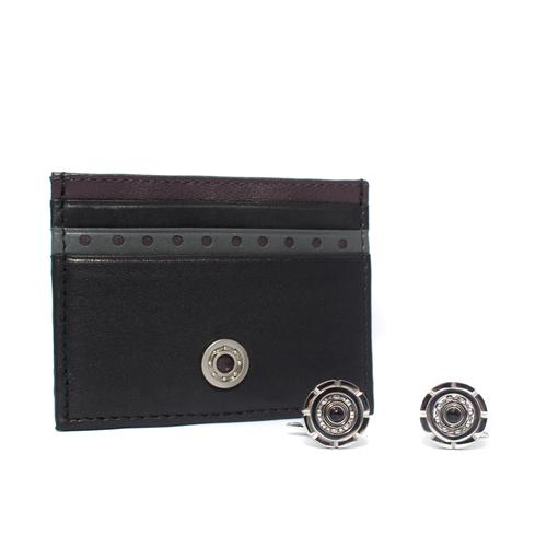 Card Holder / Cufflinks Gift Set | Thrust Bearing