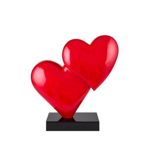 Love in the Air | Red Heart Resin Sculpture