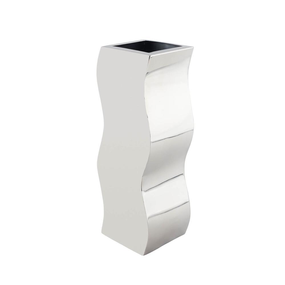 stainless steel  circlular zigzag vase  room accessories - stainless steel  circlular zigzag vase