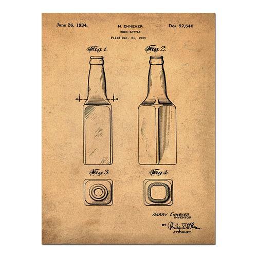 Beer Bottle-1934 Sepia/Antique   Paper