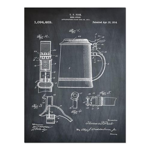 Beer Stein-1914 Chalk   Paper