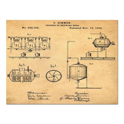 Brewing Process-1885 Sepia/Antique   Paper