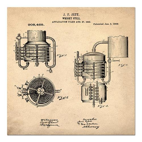 Whiskey Still - 1906 Sepia/Antique   Paper